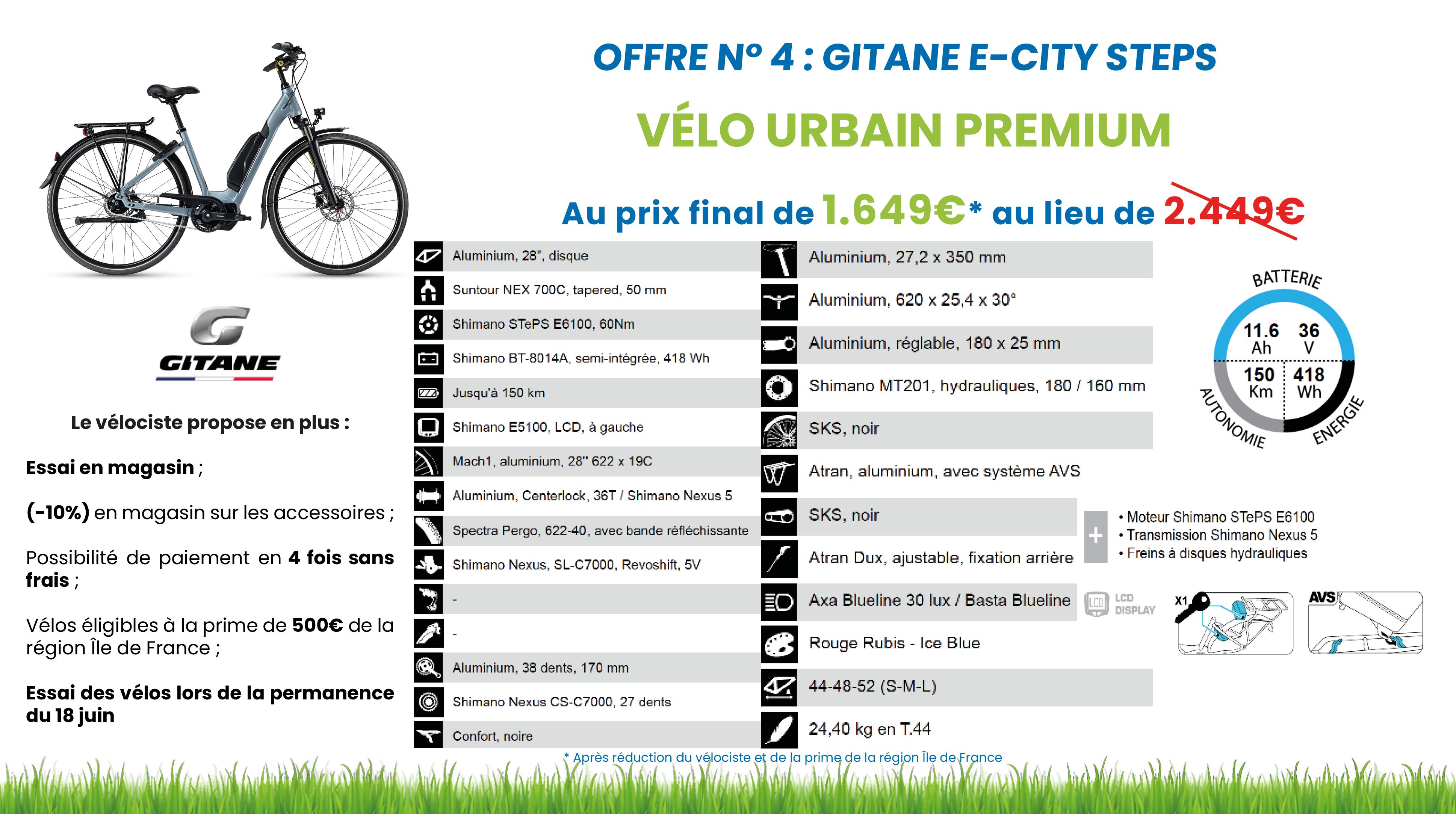 vélo page e city